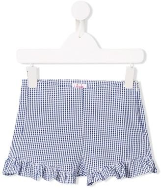 Il Gufo Gingham Frill-Trim Shorts