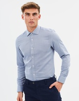 Brooksfield Luxe Two Coloured Birdseye Shirt