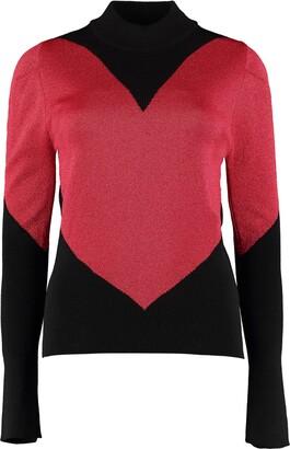 GCDS Intarsia Turtleneck Sweater