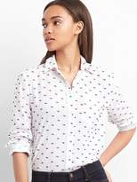 Gap Clip-dot fitted boyfriend shirt
