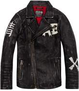Scotch & Soda Leather Biker Jacket | Felix the Cat