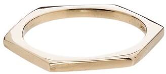 Loren Stewart 14kt Gold Hexagon Ring