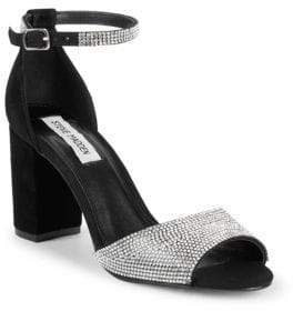 e1bd311781c Mae Chunky Heel Jeweled Leather Sandals