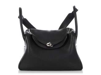 Hermes Lindy Black Leather Handbags