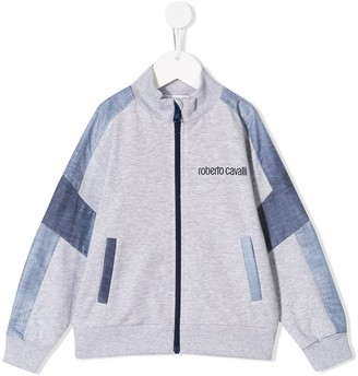 Roberto Cavalli Junior Colour Block Logo Sweatshirt