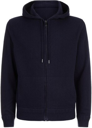 Ralph Lauren Purple Label Suede Trim Zip Hoodie