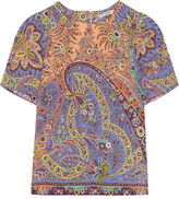 Etro Paisley-print Silk Top - Lilac