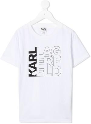 Karl Lagerfeld Paris logo-print cotton T-shirt