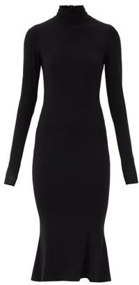 Norma Kamali Roll-neck Stretch-jersey Midi Dress - Black