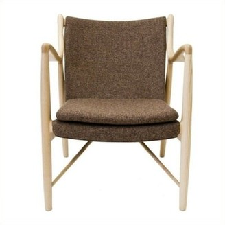 Ash Lydia Armchair Union Rustic Leg Color Brown, Upholstery Color: Dark Brown