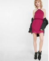 Express chiffon halter dress