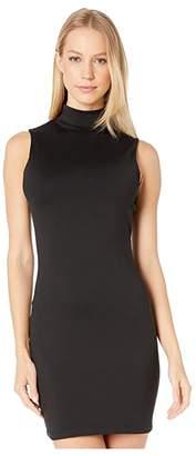 Susana Monaco Sleeveless Mock Neck Mini Dress (Black) Women's Clothing