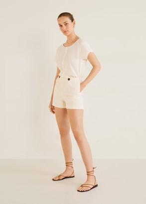 MANGO Lace detail blouse off white - 2 - Women