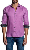 Jared Lang Solid Woven Trim Fit Shirt