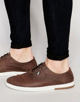 Lyle & Scott Connell Plimsolls In Waxed Canvas