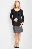 Maternal America Women's Chiffon Knit Maternity Top