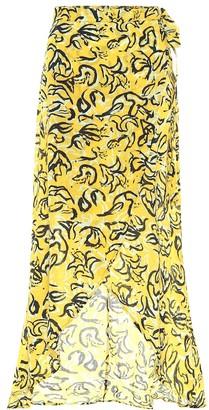 Diane von Furstenberg x Onia Amanda cotton wrap skirt