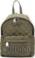 Moschino studded logo backpack - women - Polyamide - One Size