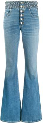 Veronica Beard faded flared jeans