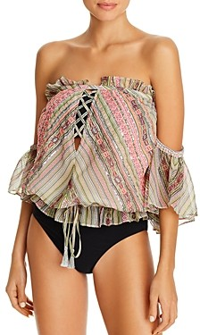 Ramy Brook Selena Cropped Top Swim Cover-Up