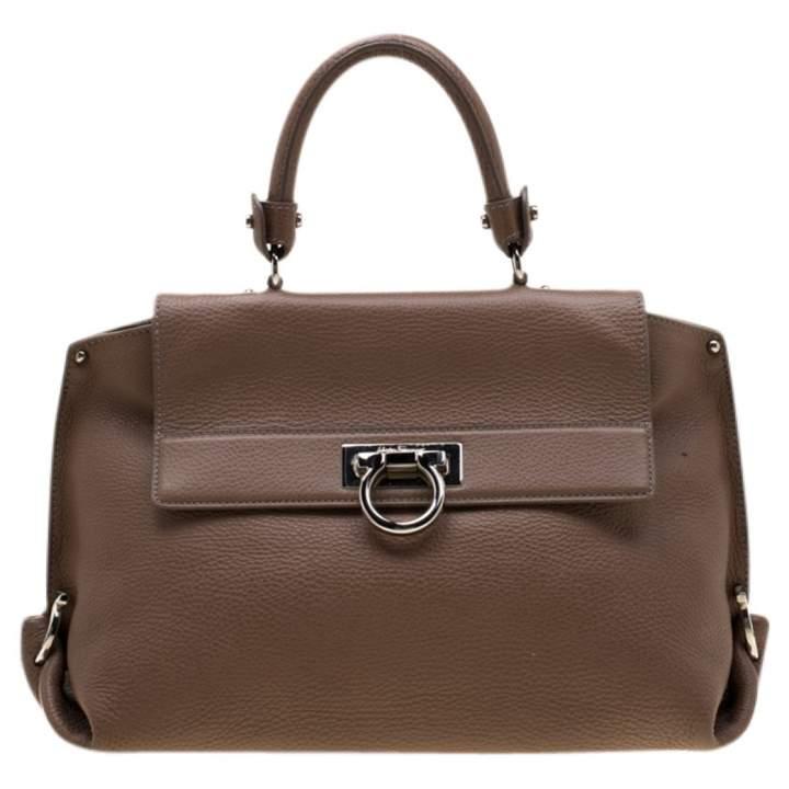 8f5c3d42b5 Salvatore Ferragamo Beige Leather Handbags - ShopStyle