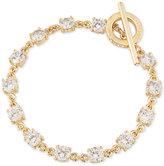 Carolee Gold-Tone Crystal Toggle Bracelet