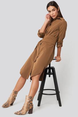 Trendyol Midi Belted Shirt Dress