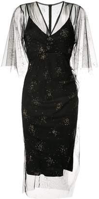 Manning Cartell embellished sheer tulle dress