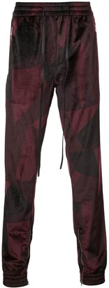 God's Masterful Children Abstract track pants