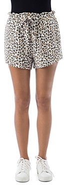 B Collection by Bobeau Donna Animal Print French Terry Shorts