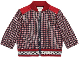 Gucci Baby Houndstooth cotton jacket