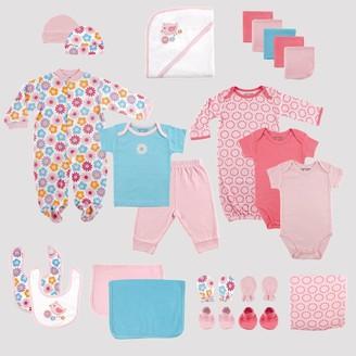 Luvable Friends Baby 24pc Gift Cube Bodysuit - Pink/Blue 0-6M