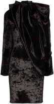 Y/Project Draped Cape-Style Mini Dress