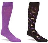 Polo Ralph Lauren Big & Tall Bulldog Crew Dress Socks 2-Pack