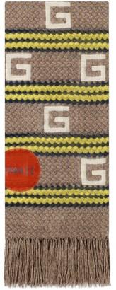 Gucci Hawaii striped modal silk stole