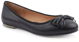 Me Too Black Cassi Leather Flat