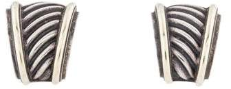 David Yurman Two-Tone Cable Earclip Earrings