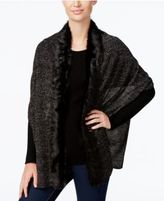 INC International Concepts Faux Fur-Trim Scarf, Only at Macy's