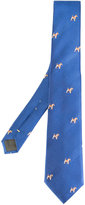 Canali dog pattern tie - men - Silk - One Size