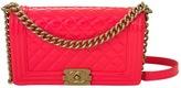 Chanel Boy patent leather handbag
