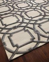 Global Views Gray Abstract Rug, 5' x 8'