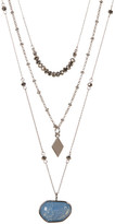 Vince Camuto Multi Layer Blue Glass Pendant Necklace