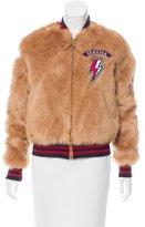 Mother Faux Fur Bomber Jacket
