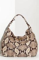 Tory Burch 'Kellan' Python Embossed Glazed Leather Hobo