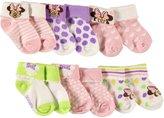 "Disney Minnie Mouse Baby Girls' ""Dotty Plus"" 6-Pack Foldover Socks"
