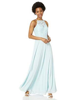 Speechless Junior's Full Length Illusion Maxi Prom and Formal Dress