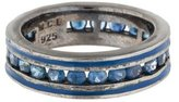 MCL by Matthew Campbell Laurenza Blue Sapphire & Enamel Band