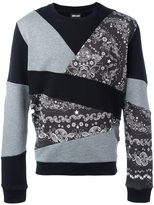 Just Cavalli patchwork sweatshirt