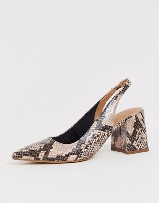 Asos DESIGN Samson slingback mid heels