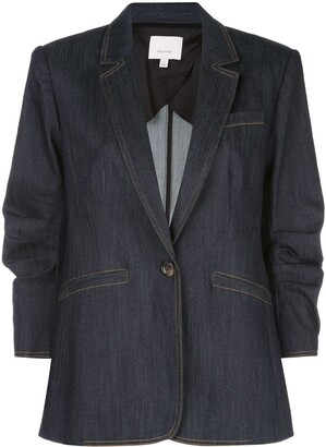 Cinq à Sept Khloe single breasted denim blazer